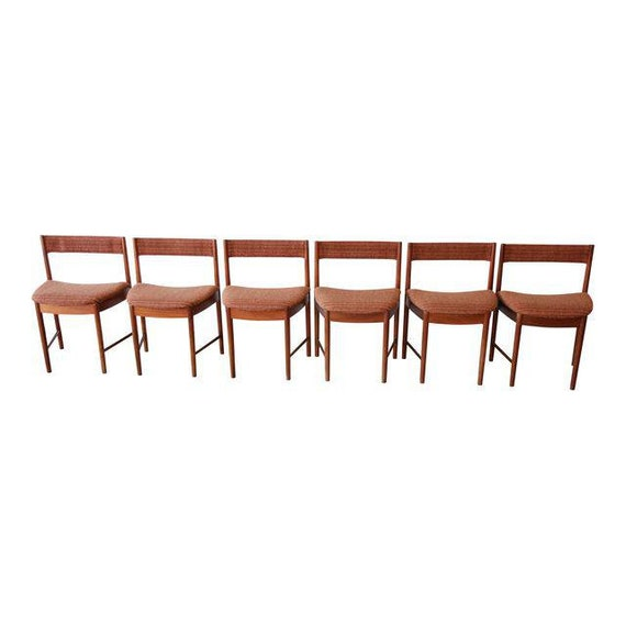 Cool G Plan Mid Century Modern Teak Wedge Shaped Dining Chairs Set Of 6 Dailytribune Chair Design For Home Dailytribuneorg