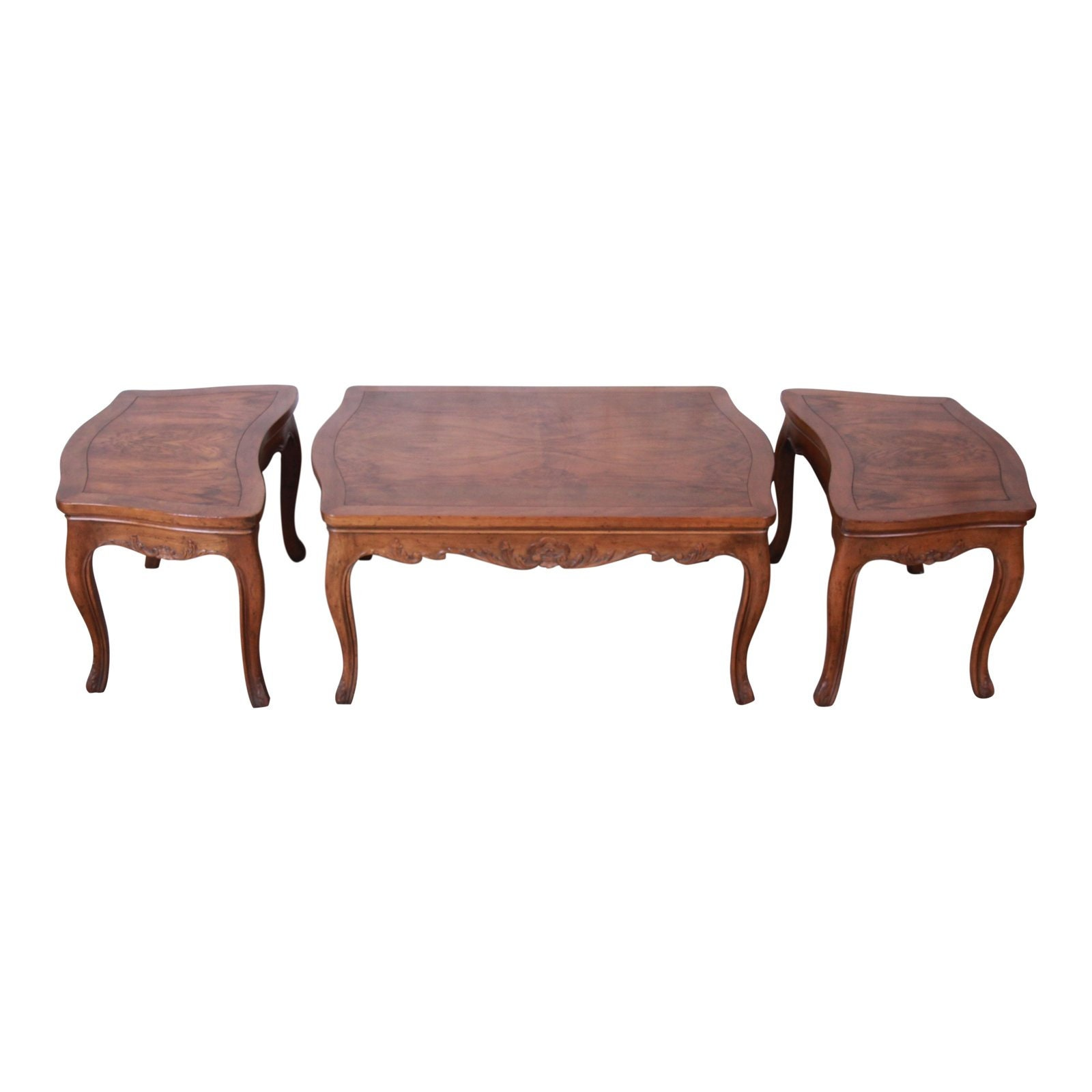 - Baker Furniture French Carved Burl Wood Coffee Table And End Etsy