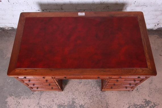 Magnificent Harden Sleepy Hollow Collection Leather Top Partner Desk Short Links Chair Design For Home Short Linksinfo