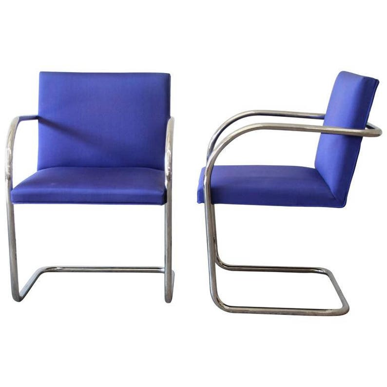 Pair Of Mies Van Der Rohe Brno Chairs For Knoll International Etsy
