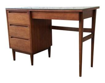 Mid-Century Modern Walnut Desk by American of Martinsville
