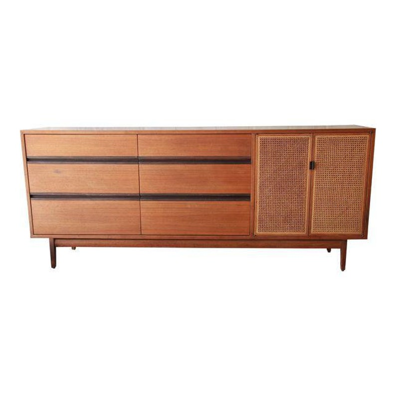 142cacfb1247a Kipp Stewart for Calvin Mid-Century Modern Walnut and Cane