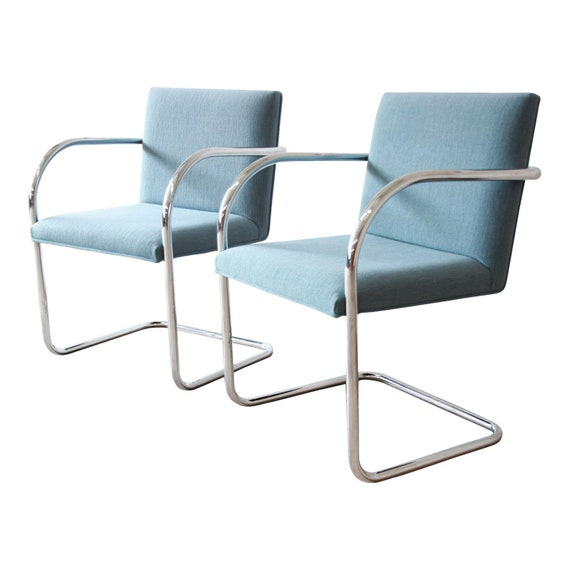 Mies Van Der Rohe Brno Club Chairs by Gordon International, 4 Pairs Available