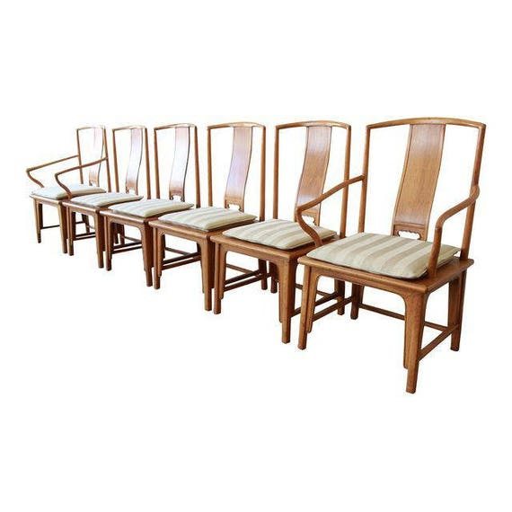 Superb Baker Furniture Chinoiserie Ming Dining Chairs Set Of 6 Evergreenethics Interior Chair Design Evergreenethicsorg