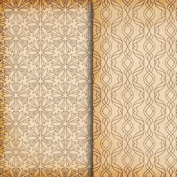 Vintage Pattern Papers Old Paper Patterns Patterned Etsy