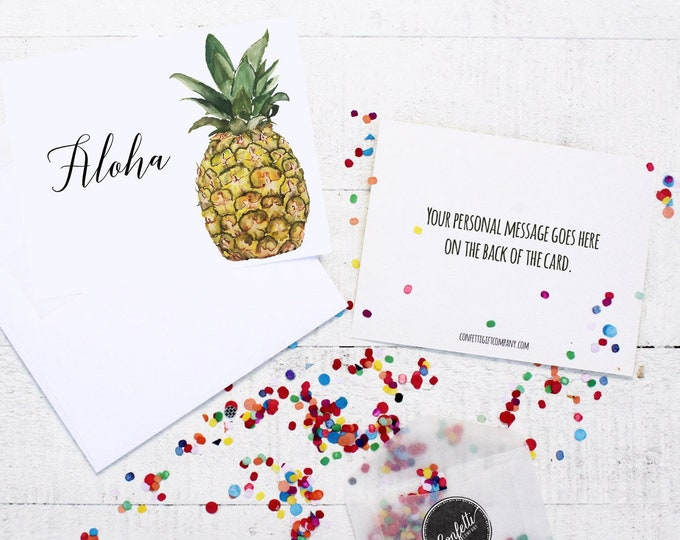 Aloha Card - Thinking of You | Send a Greeting | Send a Card | Confetti Greeting