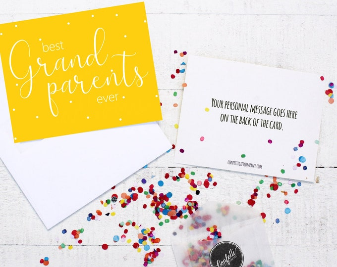 Best Grandparents Ever Card -  Card For Grandparents | Thinking of You | Send a Greeting | Send a Card | Confetti Greeting