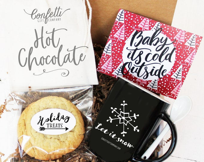 Baby It's Cold Outside Gift Box - Holiday Gift | Christmas Gift Basket | Hot Chocolate Gift | Corporate Holiday Gift | Unique Holiday Gift