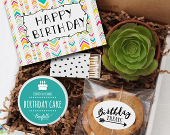 Happy Birthday Gift Box - Send a Birthday Gift | Birthday in a Box | Friend Gift | Coworker Gift | Birthday Card