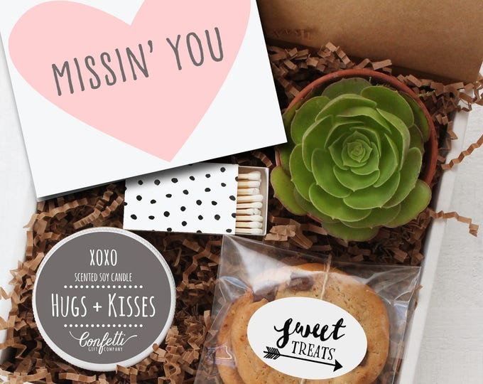 Missin' You Gift -  Miss You Gift | Long Distance Friendship Gift | Best Friend Gift | Send a Gift | College Care Package
