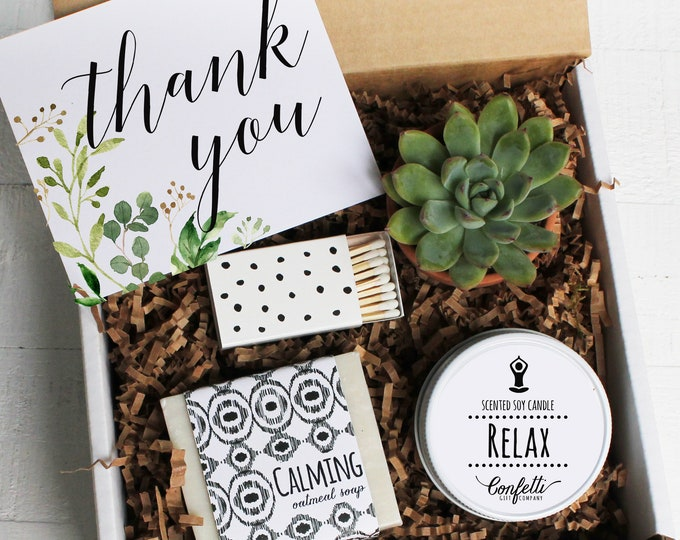Botanical Thank You Gift Box -  Appreciation Gift | Best Friend Gift | Teacher Gift | Teacher's Aide Gift | Room Parent Gift | Spa Gift Set