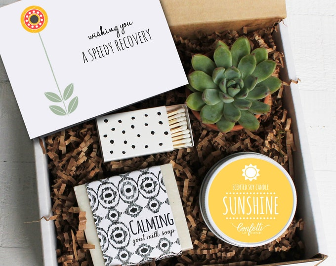 Wishing You A Speedy Recovery Corporate Gift Box - Get Well Gift | Accident Gift | Recovery Gift | Hospital Gift | Spa Gift Set