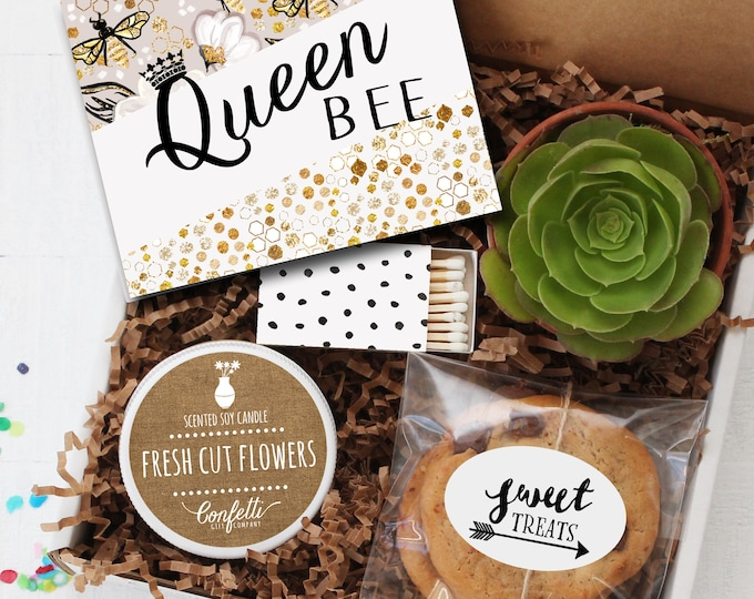 Queen Bee Gift Box - Mother's Day Gift | Thank You Gift | Friend Gift | Get Well Gift | Best Friend Gift |Gift For Her