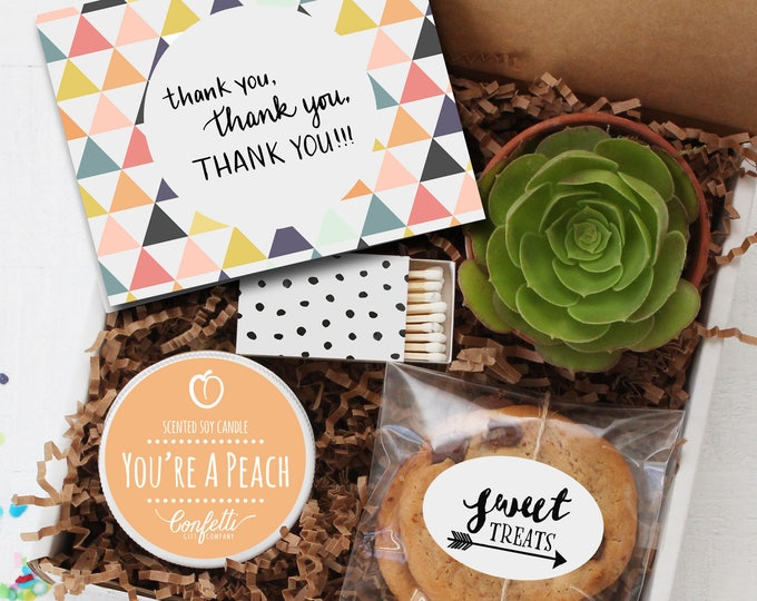 Thank You Gift Box -  Appreciation Gift | Best Friend Gift | Teacher Gift | Teacher's Aide Gift | Room Parent Gift | Coworker Gift |