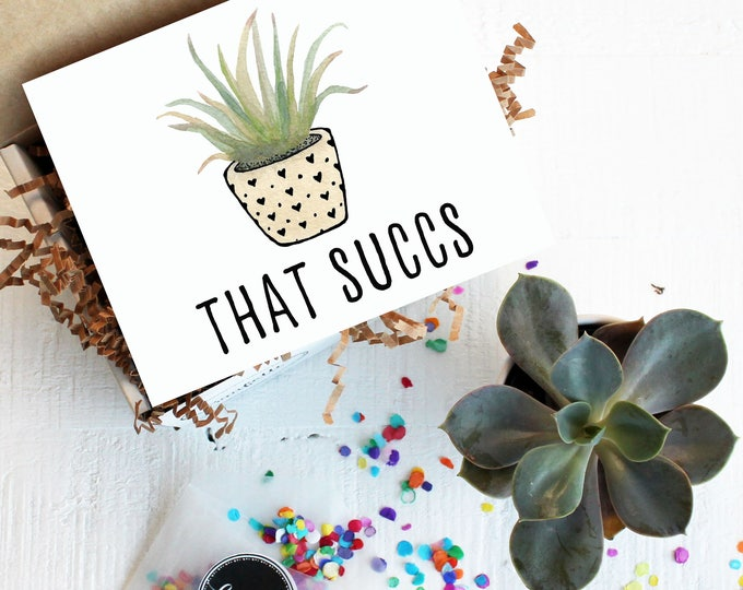 Mini That Succs Gift Box -  I'm Sorry Gift | Succulent Gift |Sympathy Gift  | Apology Card |That Sucks | Friend Gift | Thinking of You Gift