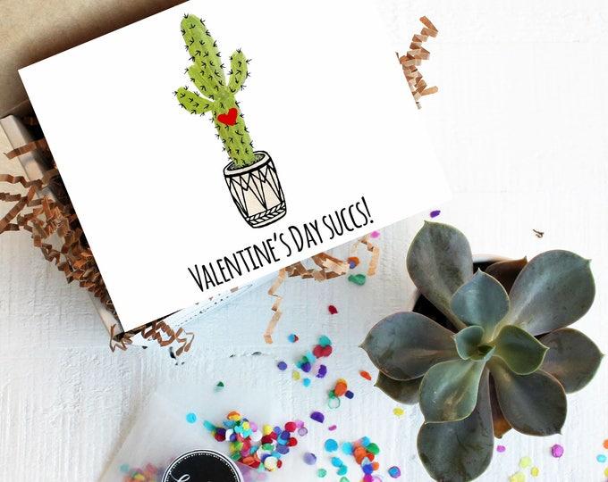 Mini Valentine's Day Succs Succulent Gift Box | Galentine's Day | bestie | BFF Gift | Send a Gift | Valentine's Day Gift