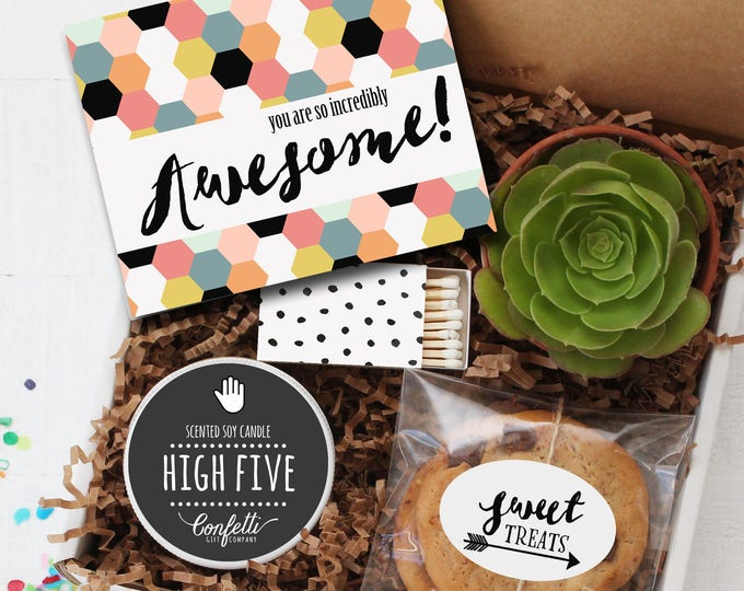 You Are So Incredibly Awesome Gift Box -  Father's Day Gift | Dad Gift | Thank You Gift | Husband Gift | Gift For Dad | High Five Candle