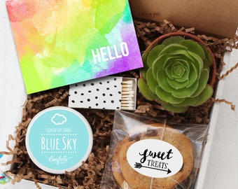 Hello Gift Box - Thinking of You Gift   Thank You Gift   Friend Gift   Miss You Gift   Get Well Gift