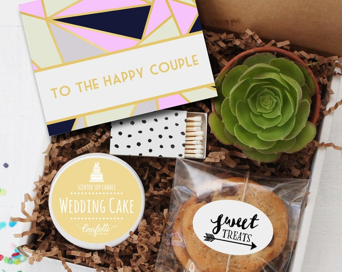To the Happy Couple Gift Box - Congratulations Gift | Wedding Gift| Celebration Gift | Bridal Shower Gift | Wedding Card