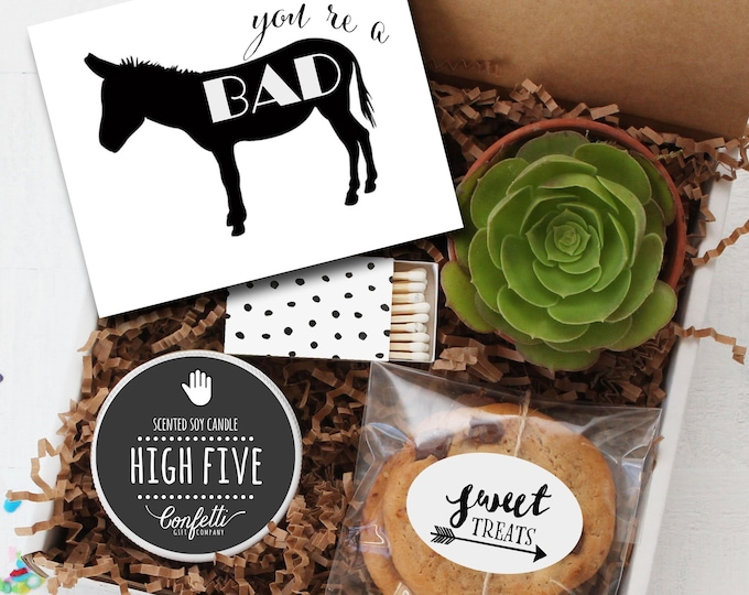 You're A Bad Ass Gift Box -  Graduation Gift | Appreciation Gift | Best Friend Gift | Congratulations Gift| Coworker Gift | Promotion Gift