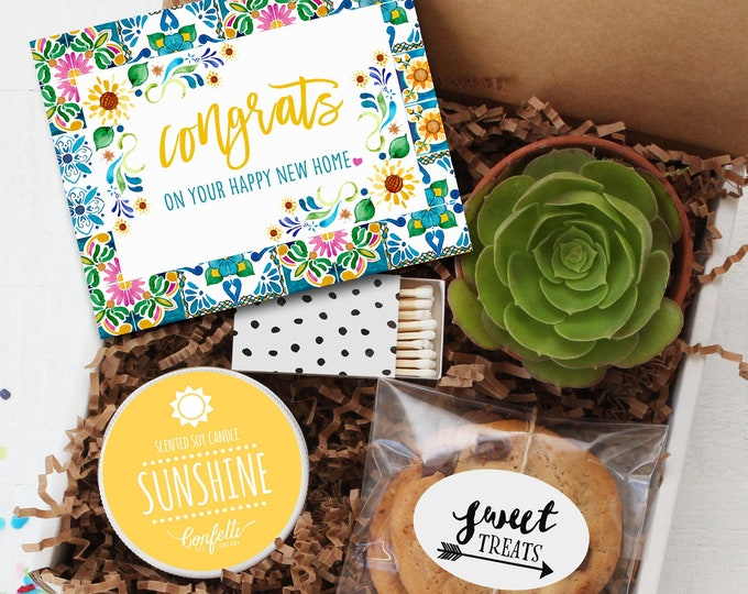 Congrats on Your Happy New Home Gift Box-  Housewarming Gift | Moving Gift | Friend Gift | Welcome Gift | New Neighbor Gift | New House Gift