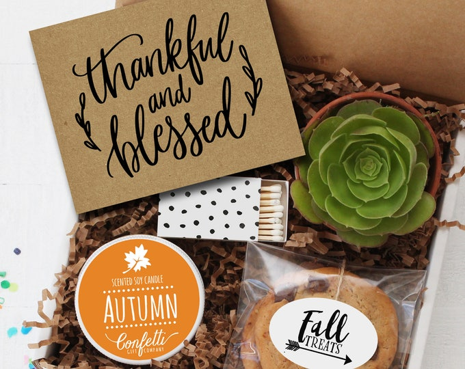Thankful and Blessed Gift Box - Thanksgiving Gift | Thanksgiving Hostess Gift | Thank You Gift | Friendsgiving Gift | Send a Gift
