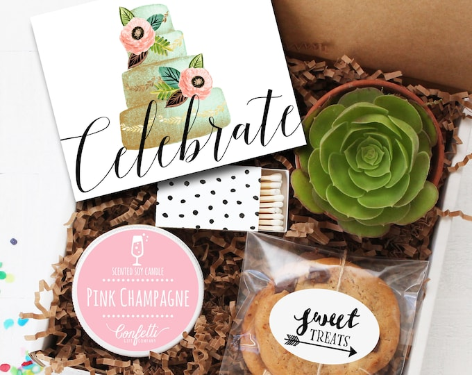 Celebrate Gift Box - Congratulations Gift | Birthday Gift | Wedding Gift | Engagement Gift | Best Friend Gift | Celebration Box