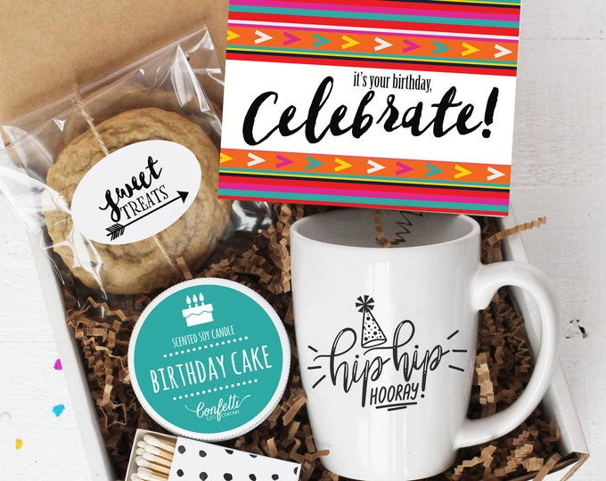 It's Your Birthday, Celebrate Gift Box | Send a Birthday Gift | Birthday Gift Set | Birthday Mug | Birthday Care Package | Birthday Box