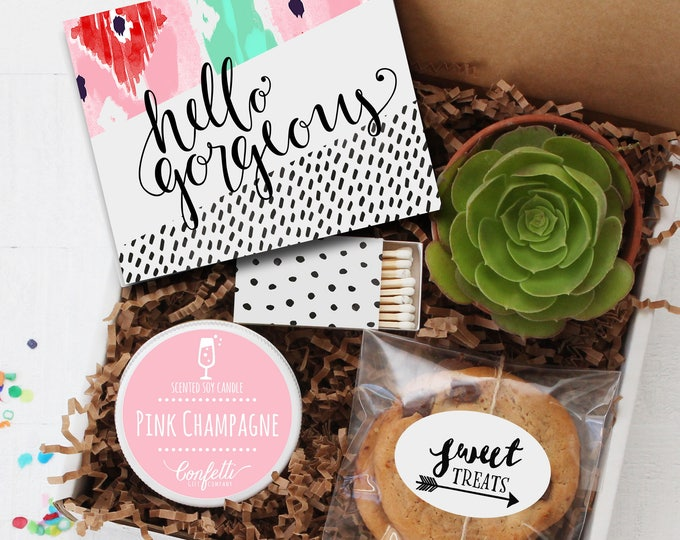 Hello Gorgeous Gift Box - Thinking of You Gift | Thank You Gift | Friend Gift | Get Well Gift | Best Friend Gift | Gift For Her