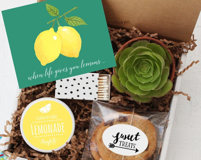 When Life Gives You Lemons Gift Box - Get Well Gift | Cheer Up Gift | Friend Gift | Send a Gift | Thinking of You Gift | Break Up Gift