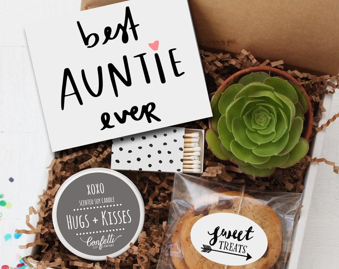 Best Auntie Ever Gift Box -  Gift For Aunt | Miss You Gift | Birthday Gift for Aunt | Card for Aunt | Number One Aunt | Niece | Nephew