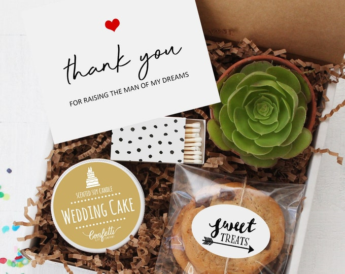 Parents Of The Groom Gift Box - Thank You For Raising The Man Of My Dreams | Mother Of The Groom Gift | Father Of The Groom Gift