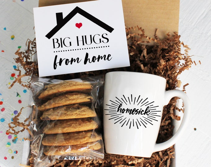 Big Hugs From Home College Care Package | Homesick Gift Box | Gift for Student | Back to School | Homesick Mug | Gift From Home | Miss You