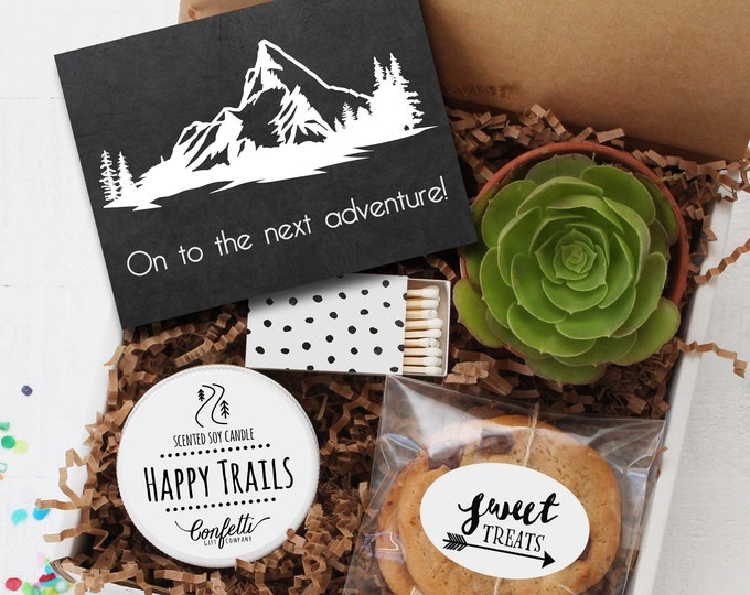 On To The Next Adventure Gift Box | Retirement Gift | Going Away Gift | Graduation Gift | New Job Gift | Adventure Gift | Moving Gift