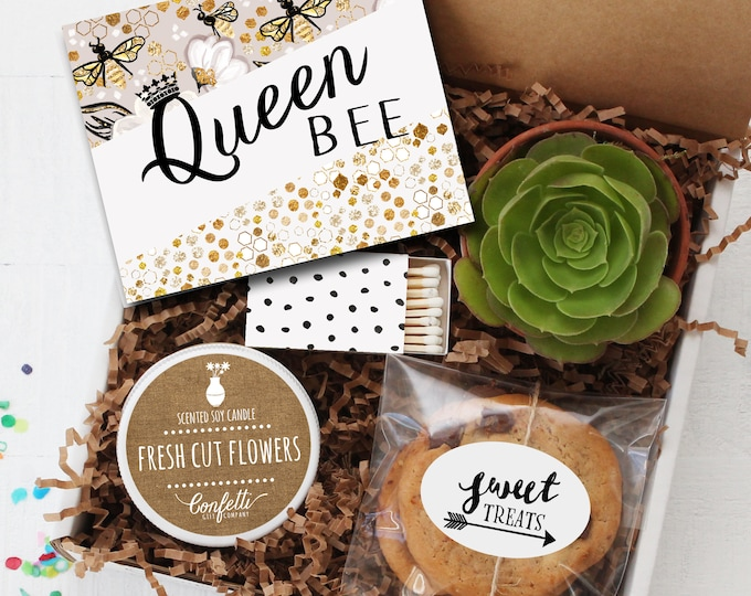 Queen Bee Gift Box - Birthday for Mom / Thinking of You Gift / Mother's Day Gift / Birthday for Her / Graduation Gift / Congratulations Gift