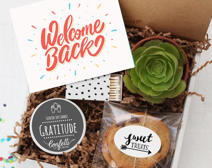 Welcome Back Gift Box - Employee Welcome Back Gift | Welcome Back To Work | Corporate Gift | Return To Work Gift | Staff Appreciation