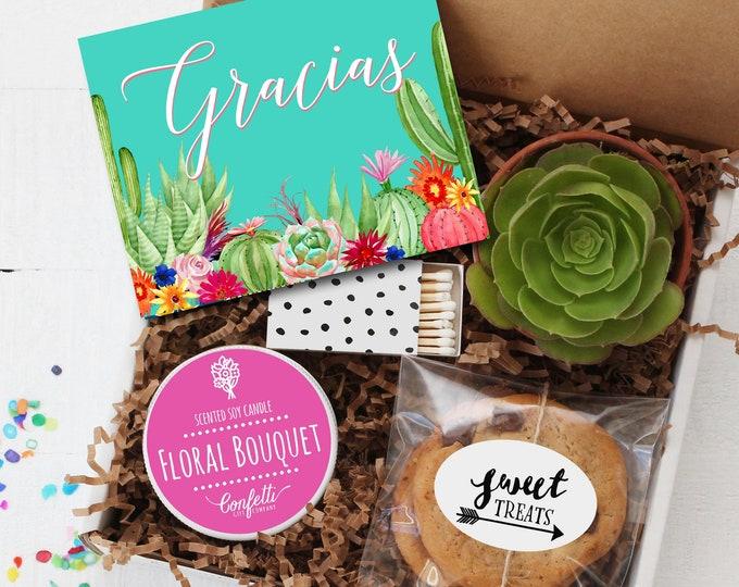 Gracias Gift Box - Thank You Gift Box | Spanish Thank You Card | Appreciation Gift | Teacher Gift | Thank You Card