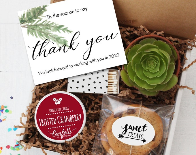 Corporate Holiday Gift Box | Thank You Gift for Client | Executive Gift | Customer Appreciation | Tis The Season To Say Thank You
