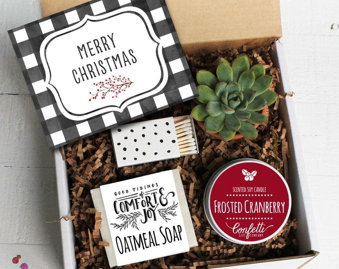 Merry Christmas Gift Box | Holiday Gift Box | Christmas Gift set | Coworker Gift | Client Gift | Spa Gift Box | Holiday Candle | Gift Box