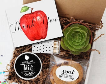 Thank You Teacher Gift Box -  Appreciation Gift | Teacher Gift | Teacher's Aide Gift |  End of The Year Gift | Professor Gift