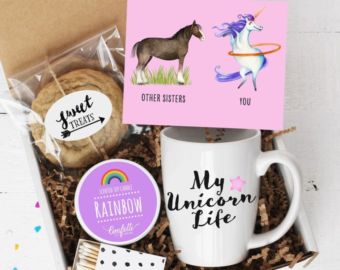 Gift For Sister - Unicorn Gift | My Unicorn Life | Sister Gift  | Gift For Her | Rainbow Candle | Thinking of You | Sister Thank You