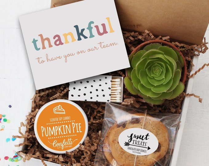 Thankful To Have You On Our Team Gift Box - Employee Gift | Fall Corporate Gift | Thank You Gift | Team Gift | Staff Appreciation | Thankful