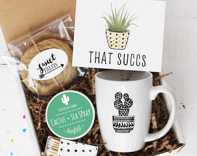 That Succs Gift Box- Comfort Box | Sympathy Gift | Thinking of You Gift | Apology Gift | Friend Gift | That Sucks | Succulent | Cookie | Mug