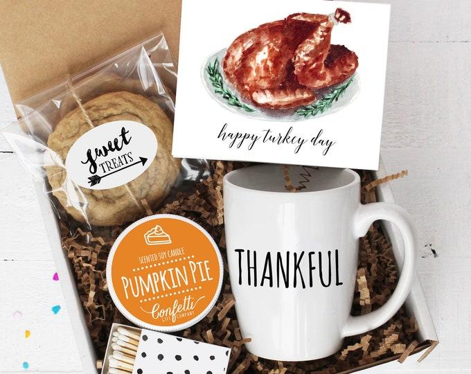 Happy Turkey Day - Mug Box | Thanksgiving Gift | Long Distance Thanksgiving | Thinking of You | Fall Gift | Thankful Mug | Pumpkin Pie
