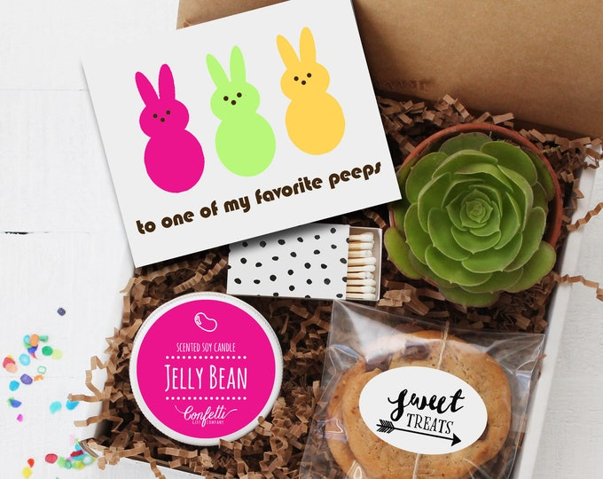 To One of My Favorite Peeps Gift Box - Spring Gift | Easter Gift | Friend Gift | Send a Gift | Thinking of You Gift | Jelly Bean Candle