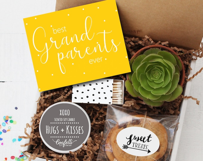 Grandparents Gift - Best Grandparents Ever Gift Box | Grandparents Day Gift | Miss You Gift | Long Distance Gift | Grandma | Grandpa Gift