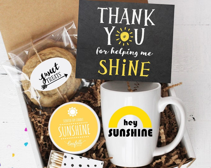 Thank You For Helping Me Shine - Comfort Box | Teacher Gift | Thank You Gift | End of Year Gift | Teacher Appreciation Gift | Teacher Aide
