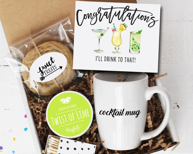 I'll Drink To That Gift Box | Congratulations Gift | Graduation Gift | Engagement Gift | Promotion Gift | New Job Gift | Cocktail Mug
