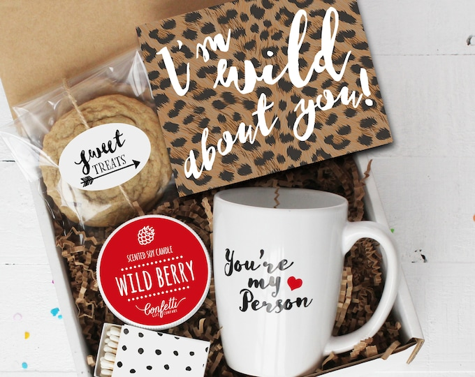 Wild About You Gift Box - I'm Wild About You | Best Friend Gift | Girlfriend Gift | Boyfriend Gift | BFF Gift | You're My Person