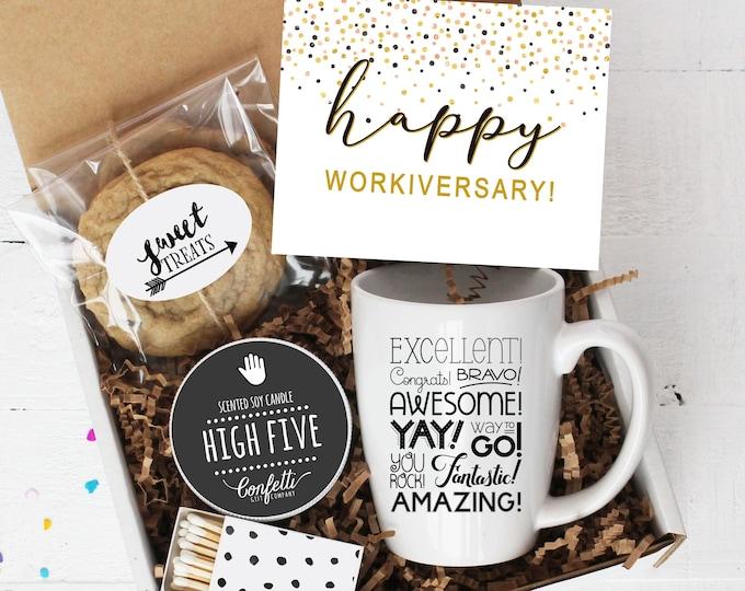 Happy Workiversary Mug Gift Box -  Work Anniversary Gift | Employee Anniversary Gift | Staff Appreciation Gift | Employee Recognition Gift